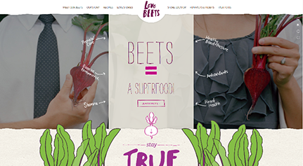 One page design Love Beets